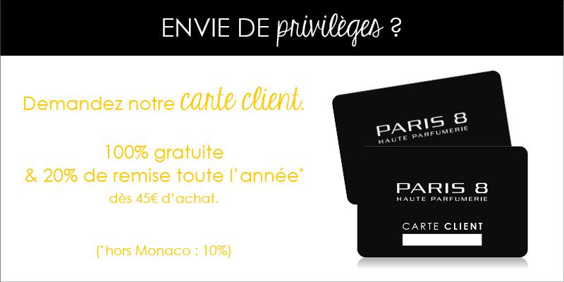 Carte client Paris 8